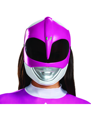 Maska Strážci vesmíru pro dospělé růžová - Strážci vesmíru Mighty Morphin