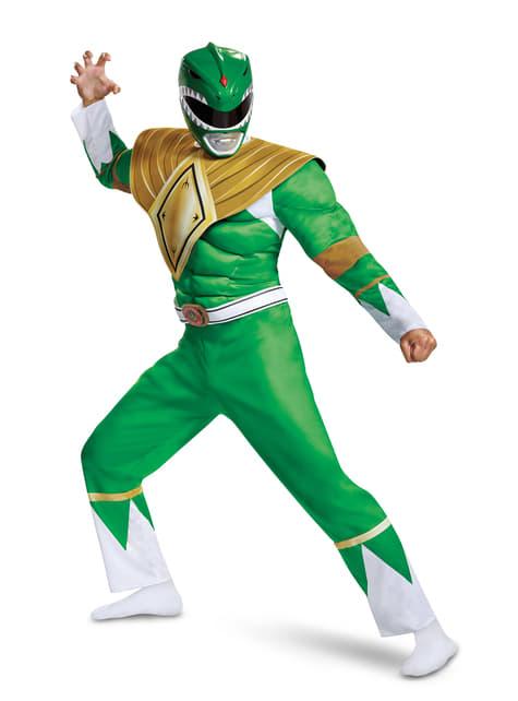 Strój Power Ranger zielony dla dorosłych - Power Rangers Mighty Morphin