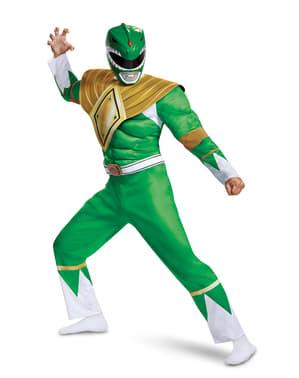 Kostium Power Ranger zielony dla dorosłych - Power Rangers Mighty Morphin