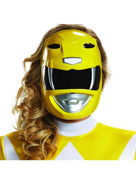 Máscara de Power Ranger amarelo para adulto - Power Rangers Mighty Morphin