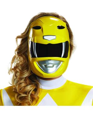 Keltainen Power Ranger -Naamio Aikuisille - Power Rangers Mighty Morphin