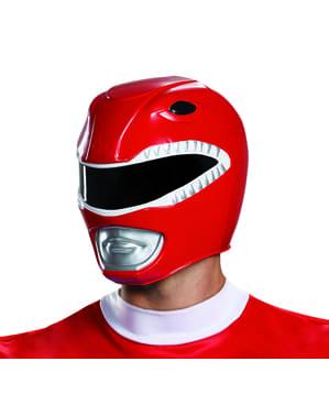 Power Rangers Mighty Morphin - rød Power Ranger hjelm til voksne