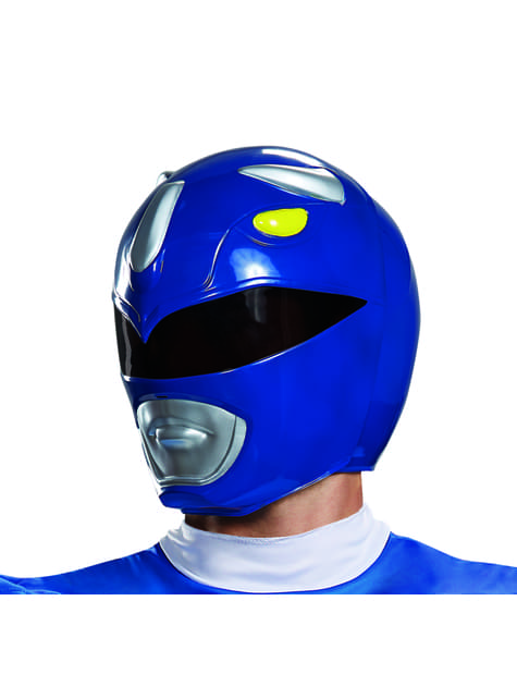 Casco de Power Ranger azul para adulto - Power Rangers Mighty Morphin