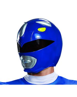 Power Rangers Mighty Morphin - blå Power Ranger hjelm til voksne