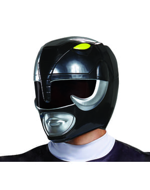 Capacete de Power Ranger preto para adulto - Power Rangers Mighty Morphin