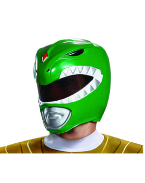 Casco de Power Ranger verde para adulto - Power Rangers Mighty Morphin