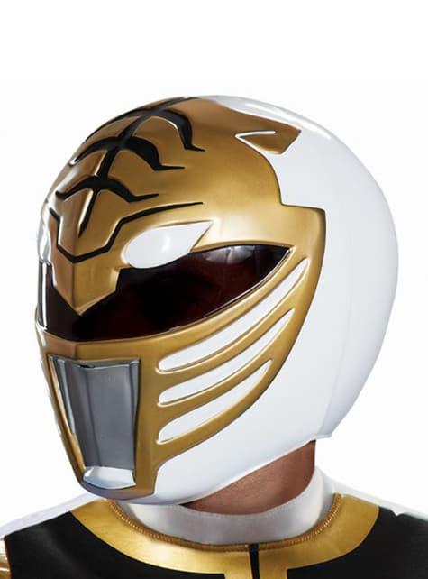 Casco de Power Ranger blanco para adulto - Power Rangers Mighty Morphin