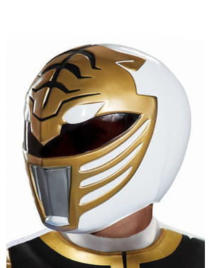 Casque Power Ranger blanc adulte - Power Rangers Mighty Morphin