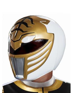 Power Rangers Mighty Morphin - hvid Power Ranger hjelm til voksne
