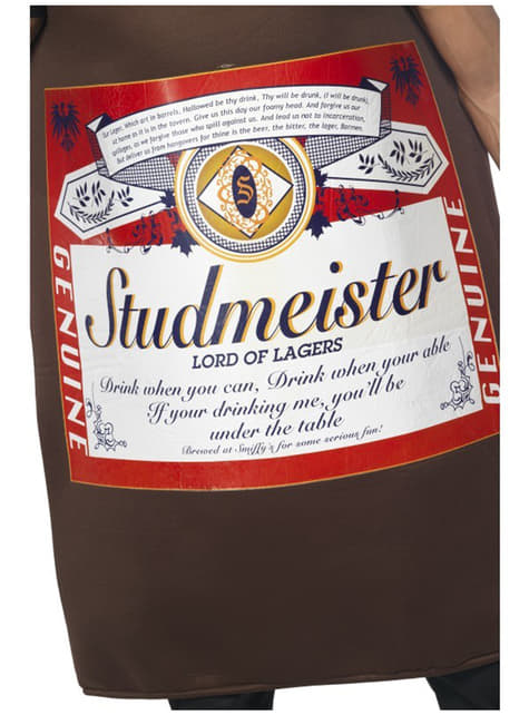 Costume da bottiglia di birra Studmeister