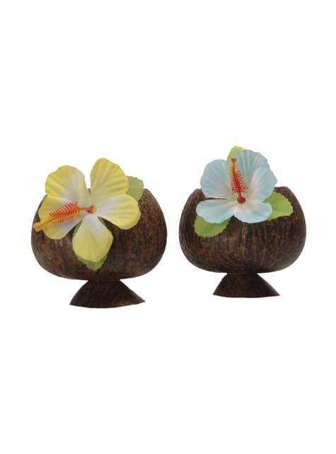 Vaso de coco hawaiano - barato
