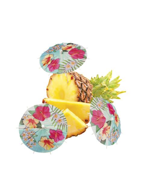 Set de 6 sombrillas Hawái el paraíso