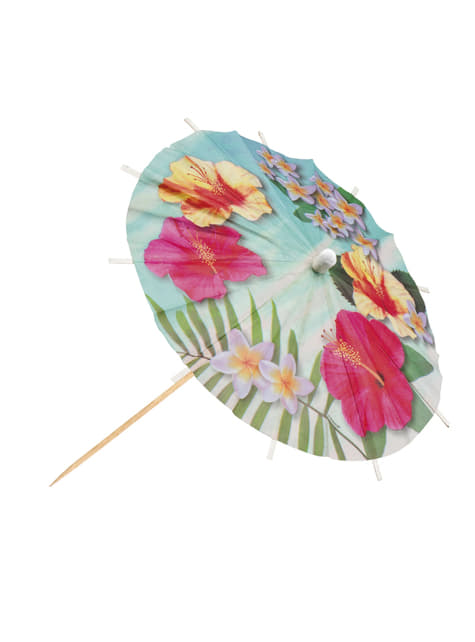 Set of 6 Hawaiian Paradise parasols
