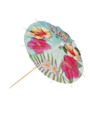 Sæt af 6 hawaii paradis parasoller