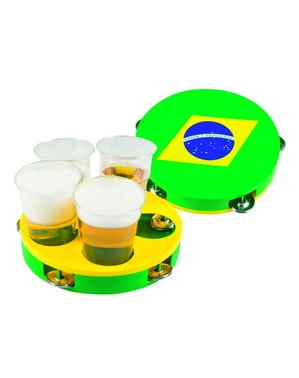 Brazil Flag cup holder tray