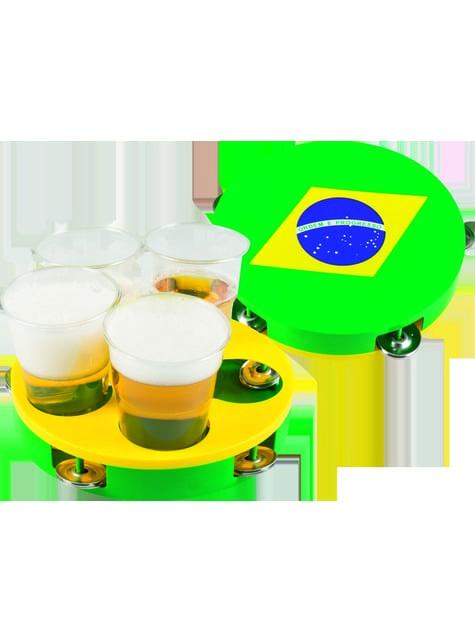 Bandeja pandereta de la bandera de Brasil - para tus fiestas