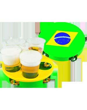 Bandeja pandereta de la bandera de Brasil