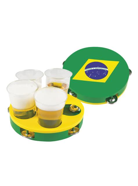 Bandeja pandereta de la bandera de Brasil - barato