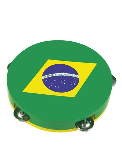 Bandeja pandereta de la bandera de Brasil - comprar