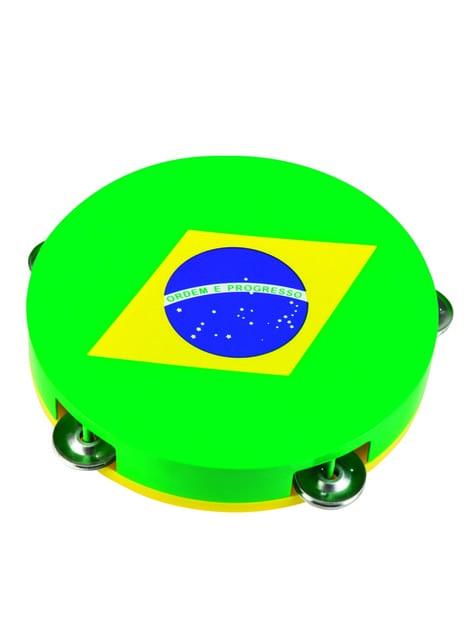 Bandeja pandereta de la bandera de Brasil - original