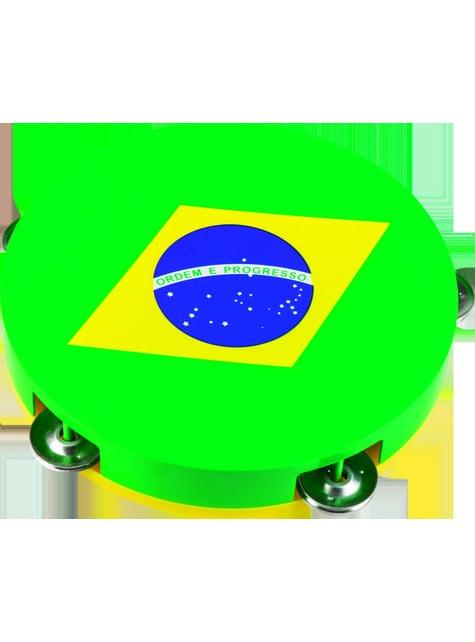 Bandeja pandereta de la bandera de Brasil - para decorar todo durante tu fiesta