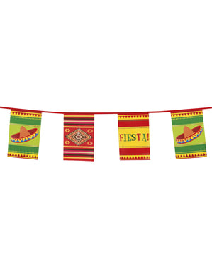 Flaggspel för mexikansk fest