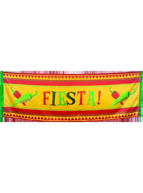Bandera decorativa para fiesta mejicana
