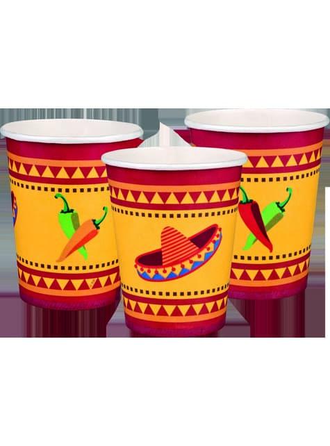 6 vasos para fiesta mejicana - para tus fiestas