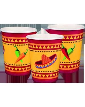 6 vasos para fiesta mejicana