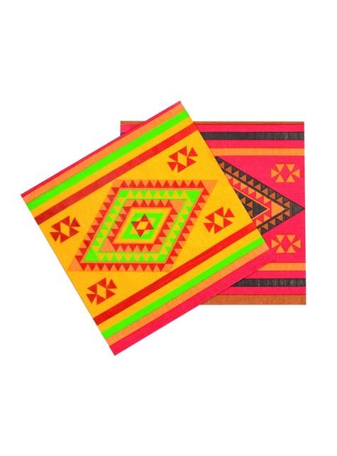 12 serviettes fête mexicaine
