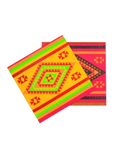 12 servilletas para fiesta mejicana (33x33 cm)