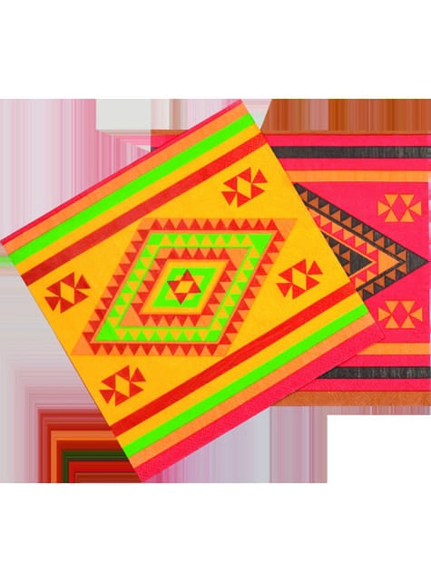 Conjunto de 12 guardanapos para festa mexicana