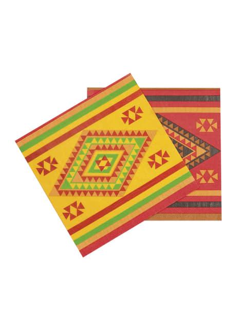 12 Serviettes en papier fête mexicaine