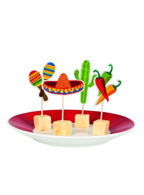 12 Essstäbchen Set mit mexikanischem Motiv