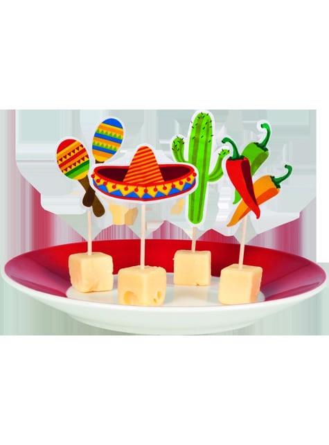 12 toppers decorativos variados para fiesta mejicana - para tus fiestas