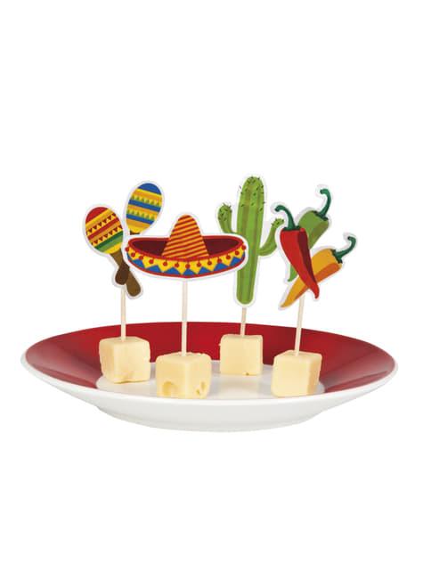 12 toppers decorativos variados para fiesta mejicana - barato