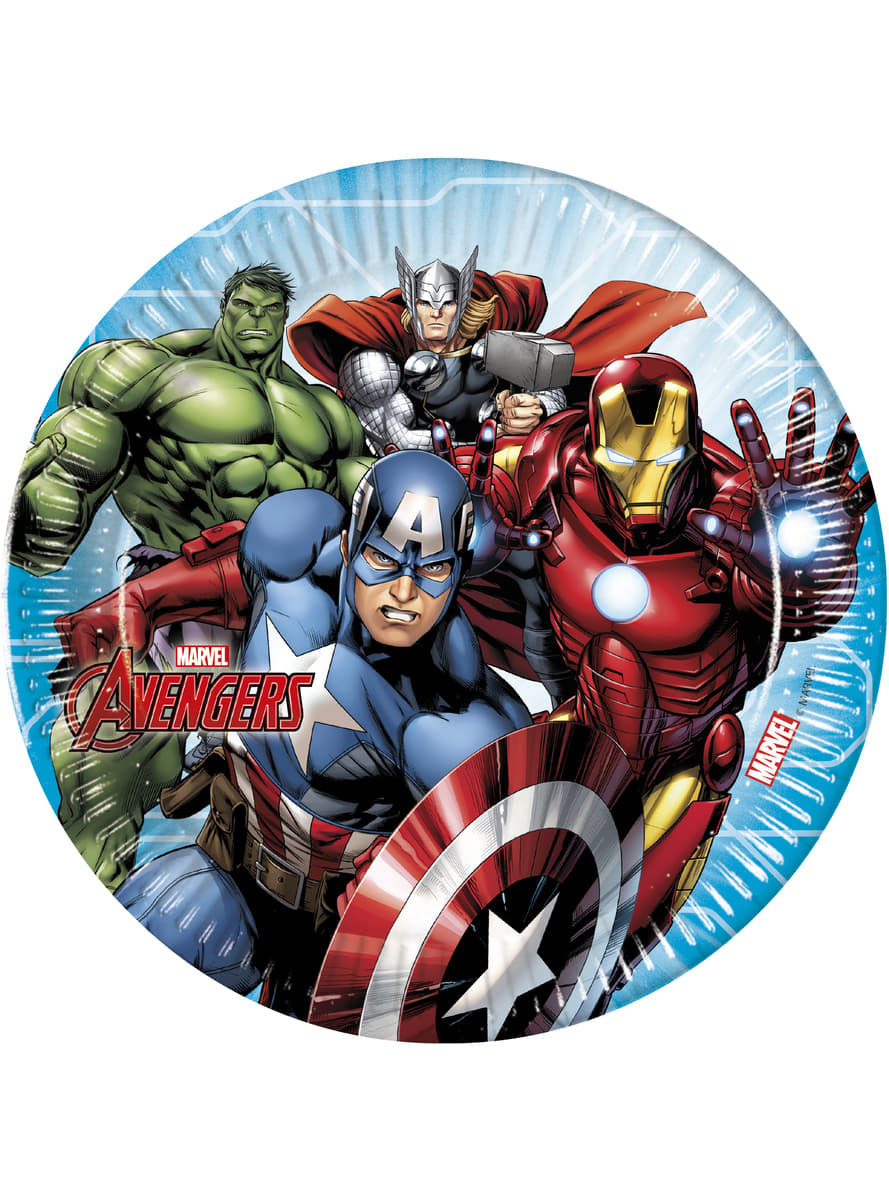 4b386be6c9 Set of 8 The Imposing Avengers plates