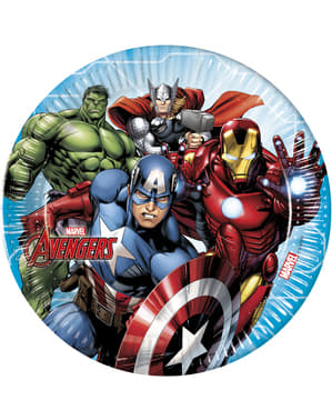 8 platos de Los Vengadores (23cm) - Mighty Avengers