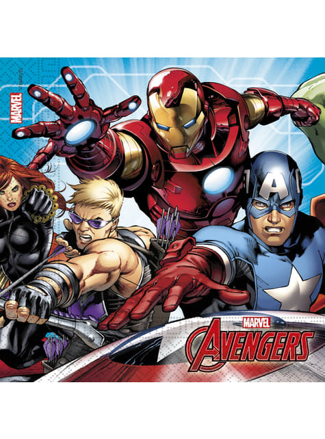 20 servilletas de Los Vengadores (33x33cm) - Mighty Avengers
