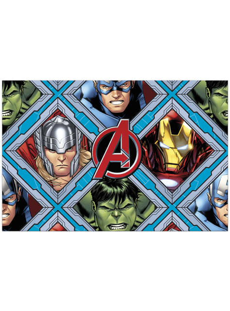 The Imposing Avengers plastic tablecloth