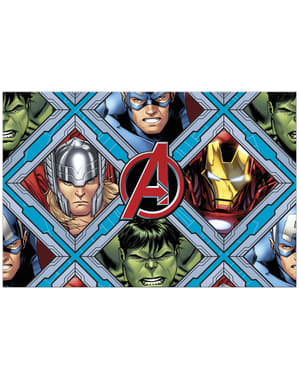 Plastik-Tischdecke mit The Avengers Motiv