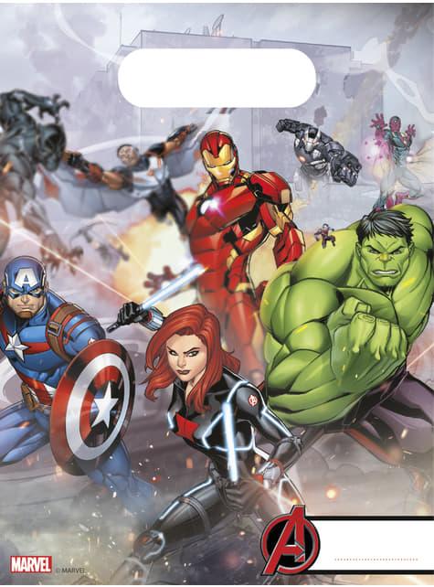 6 bolsas de papel de Os Vingadores Imponentes - Mighty Avengers