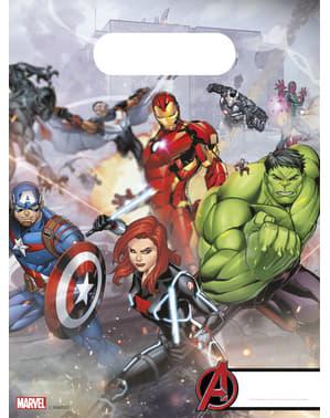 6 kpl setti The Avengers uhkaavat hahmot -paperipusseja