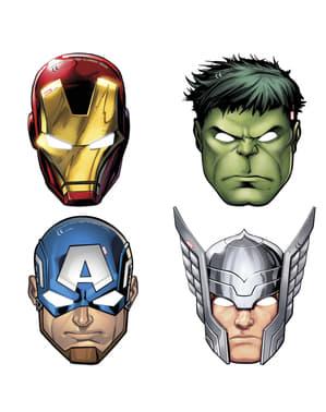 Sæt af 6 varierede The Avengers Team Power masker