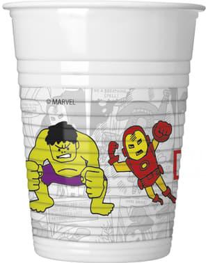 Set 8 gelas plastik The Avengers Team Power