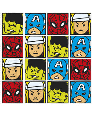 Set di 20 tovaglioli The Avengers Squadra del Potere