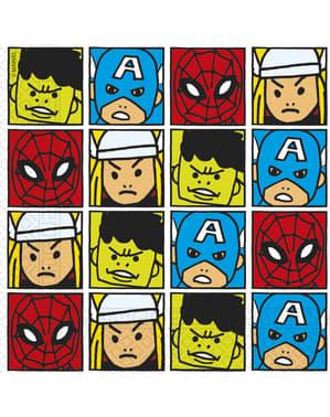 20 The Avengers Team Power servette (33x33cm) - Avengers Cartoon