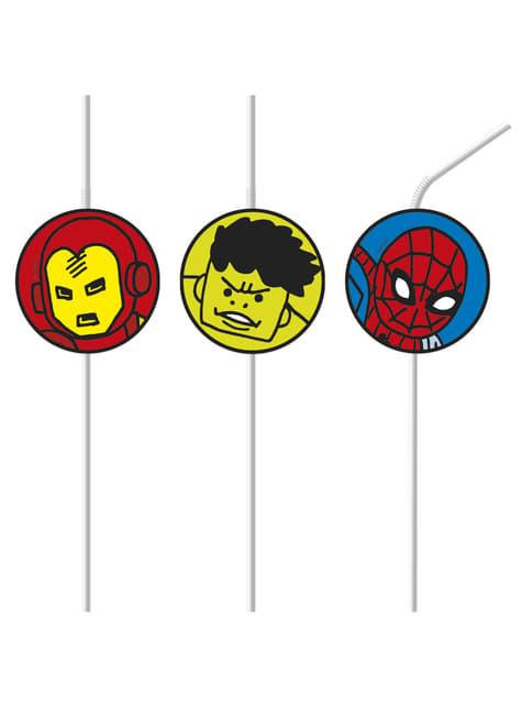 Zestaw 6 słomek The Avengers