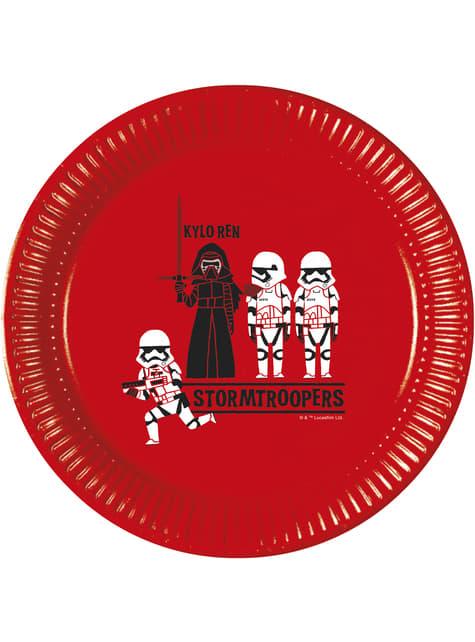 Conjunto de 8 pratos de A Força de Star Wars