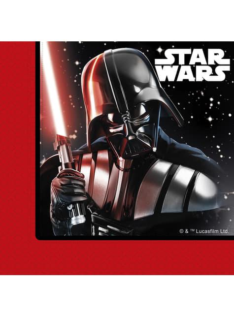 Conjunto de 20 guardanapos de Star Wars A Batalha Final